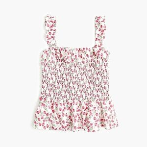 J. crew x Liberty of London Rose Smocked Tank
